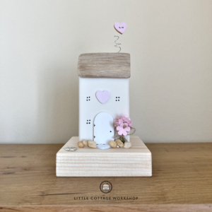 White and Pink Pebbles Cottage